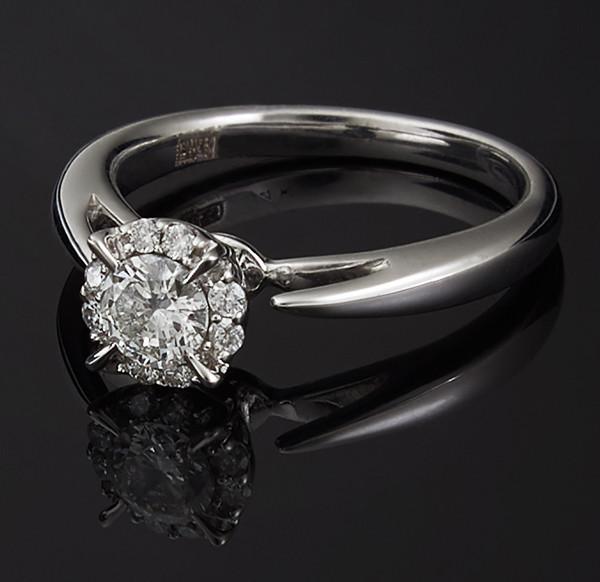 Золоте кільце з діамантами С39Л1№2