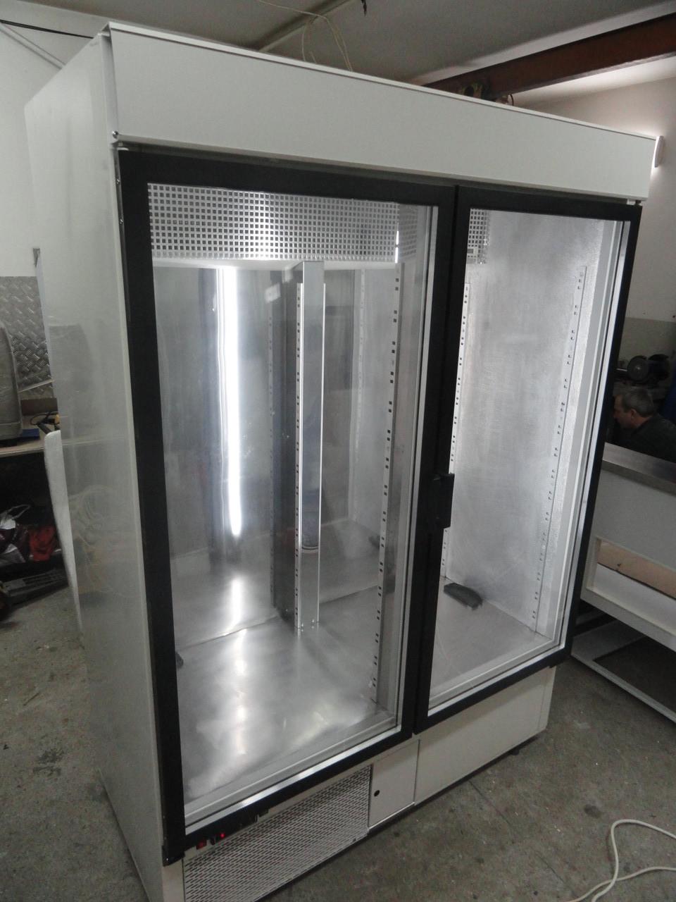 Шкаф холодильный COLD SW-1400 DR (стеклянные распашные двери и с лайт-боксом)