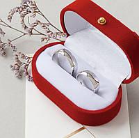 Серебряная обручальная пара