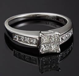 Золотое кольцо с бриллиантами С38Л1№4