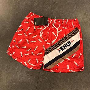 Пляжные мужские шорты, Fendi,Red