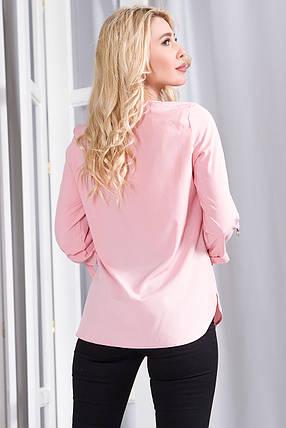Блузка 627 розовая, фото 2