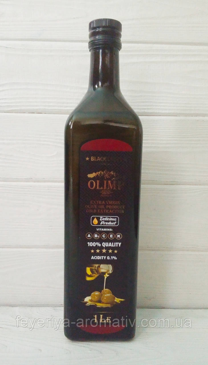 Оливковое масло Olimp Extra Virgin black label, 1л (Греция)