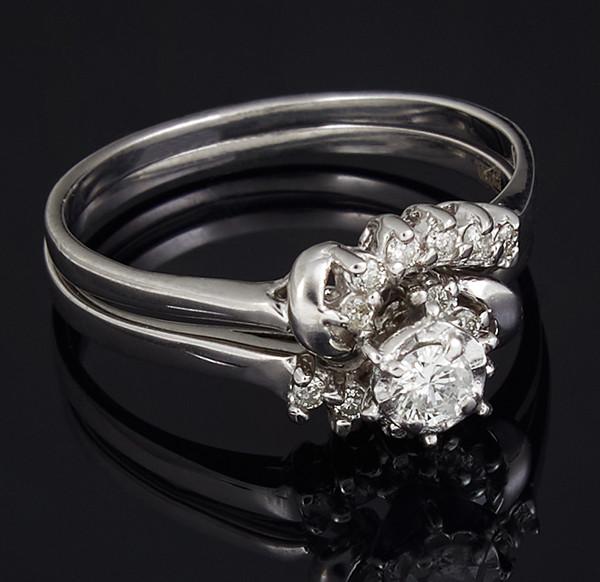 Золоте кільце з діамантами С40Л1№3