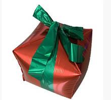 Куб подарунок червоний фольгований 35х70 см Китай