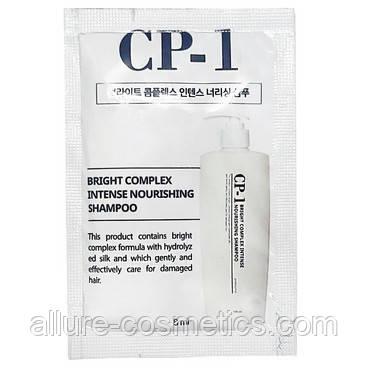 Безсульфатный протеиновый шампунь CP-1 Bright Complex Intense Nourishing Shampoo пробник 8мл