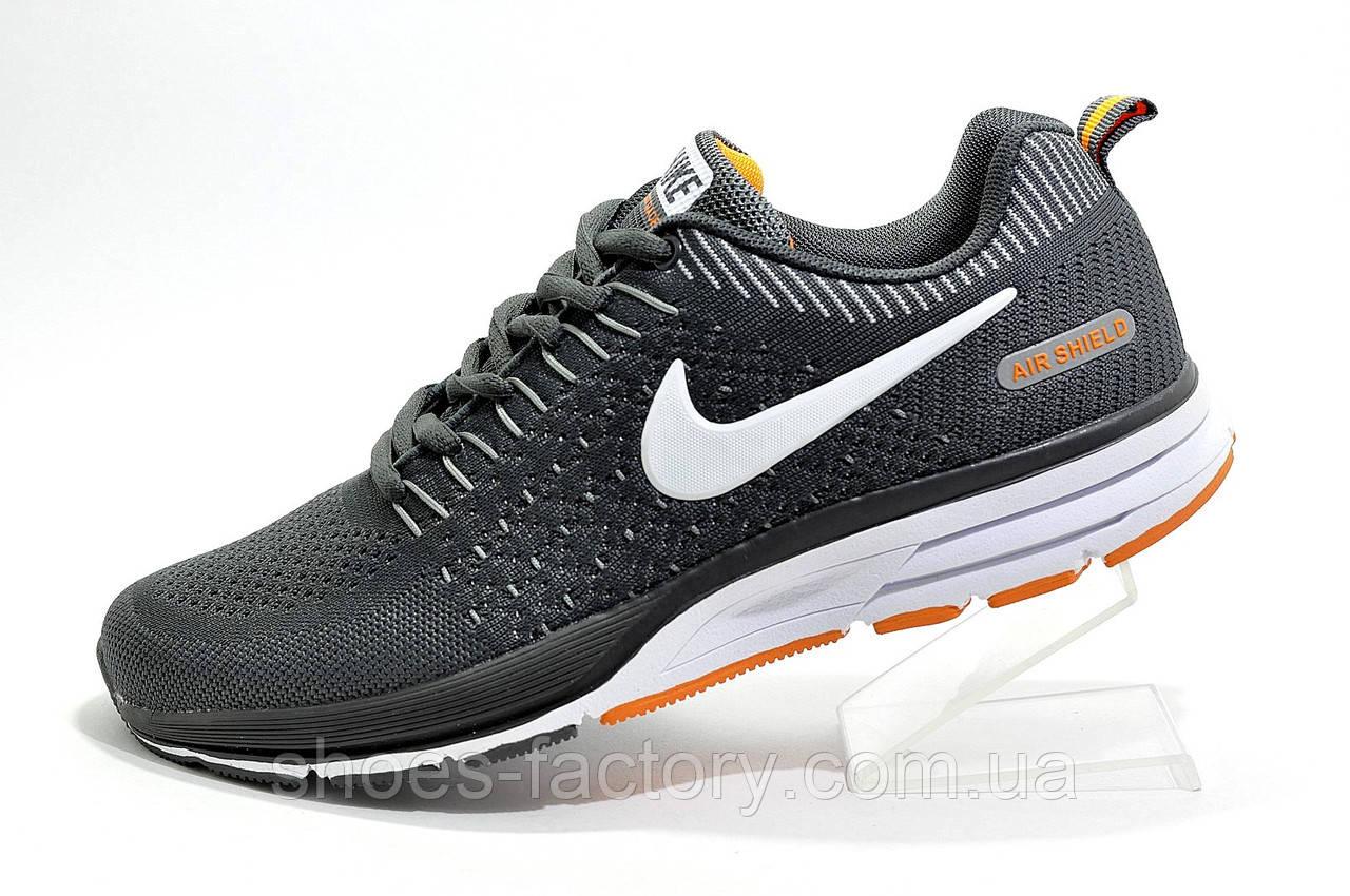 Беговые кроссовки в стиле Nike Air Zoom Shield, Gray\White\Orange