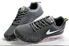 Беговые кроссовки в стиле Nike Air Zoom Shield, Gray\White\Orange, фото 3