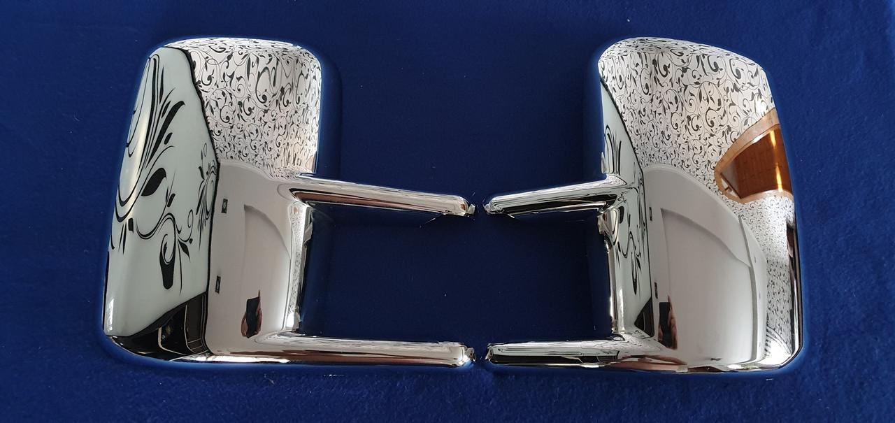 Хромированные накладки зеркал mercedes sprinter 96-06