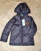 Темно-синяя весенняя куртка с капюшоном на мальчика 80-140 р