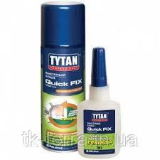 Клей Tytan Quick Fix цианакрилатный 2х компонентный 400мл+100гр