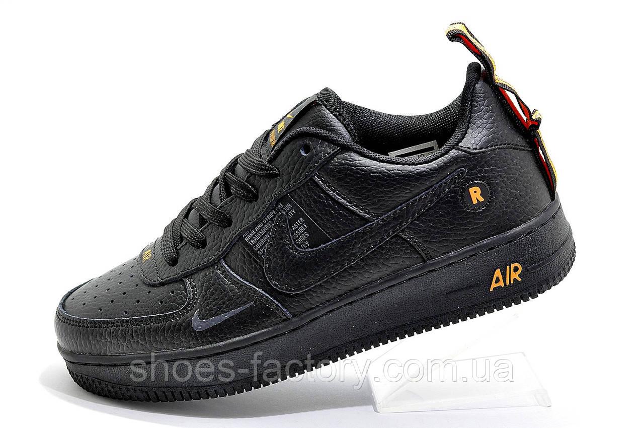 Мужские кроссовки в стиле Nike Air Force 1 '07 Lv8 Utility, Black\Orange