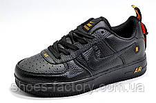 Мужские кроссовки в стиле Nike Air Force 1 '07 Lv8 Utility, Black\Orange, фото 2