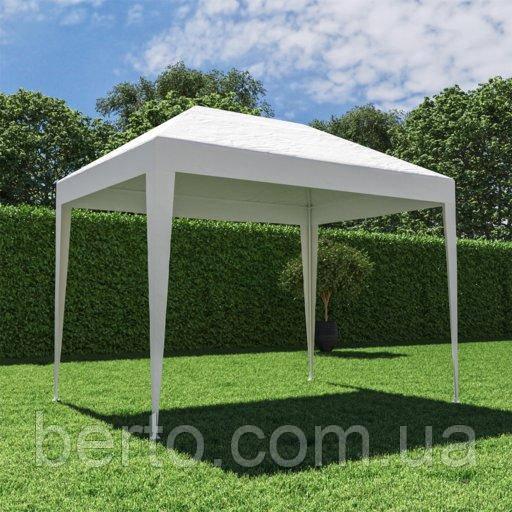 Павильон садовый белый 1,95*2,95 м. без  москитной сетки ( полиэтилен)