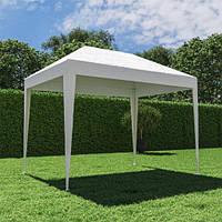 Павильон садовый белый 2х3 м.(1,95*2,95 м.) без москитной сетки ( полиэтилен)