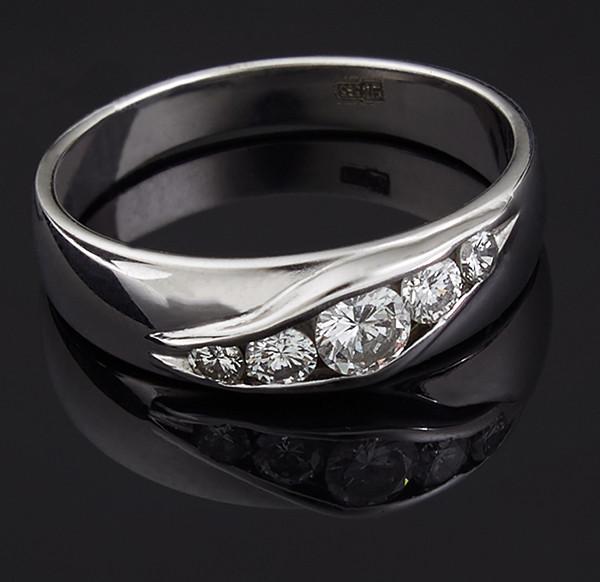 Золоте кільце з діамантами С40Л1№11