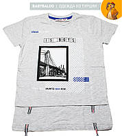 """Стильная футболка для мальчика """"Мост"""" (от 8 до 12 лет)"""