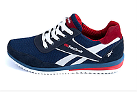 Мужские летние кроссовки сетка Reebok синие