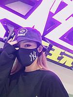 Маска на лицо Бафф K-Pop VIM - NY для повседневной носки. Черная