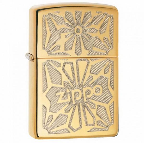 Зажигалка Zippo Ornament High Polish Brass, 28450