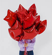 """Кулька фольгований """"червона Зірка"""" діаметр 45см. 1289"""