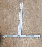 Стійка 1420х400 перфорована двохстороння для металевих стелажів з основою, фото 5