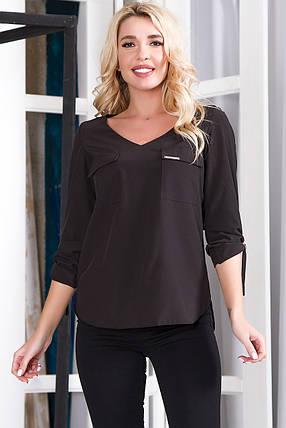 Блузка 627 черная, фото 2