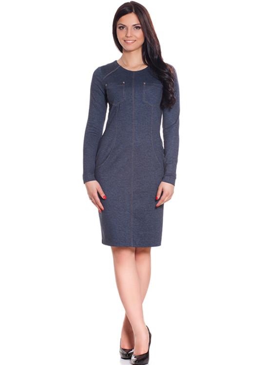 Женское платье из ткани под джинс (XS-XL)