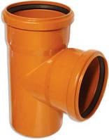 Трійник зовнішня каналізація з ПП 160x160/90° МПЛАСТ