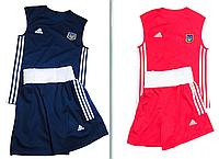 Боксерская форма Две боксерских формы, синяя + красная (майка, трусы) Комплект