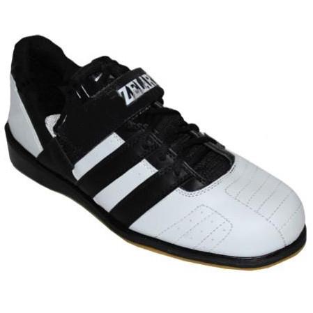 Штангетки взуття для важкої атлетики Zelart PU OB-4594 (р. 40, верх-PU, підошва шкіра,TPU, біл.-черн.)