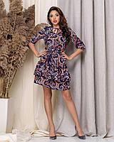 Платьес легкое, короткое, с оборкой 42,44,46,48, фото 1