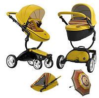 Коляска 2в1 Mima Xari Yellow (c матрасом и зонтом)