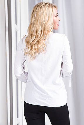 Блузка 627 белая в горох, фото 2