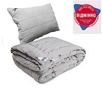 Одеяло с Подушкой Полуторное 140х205 GREY силикон 200г/м2 Руно 924.52Grey