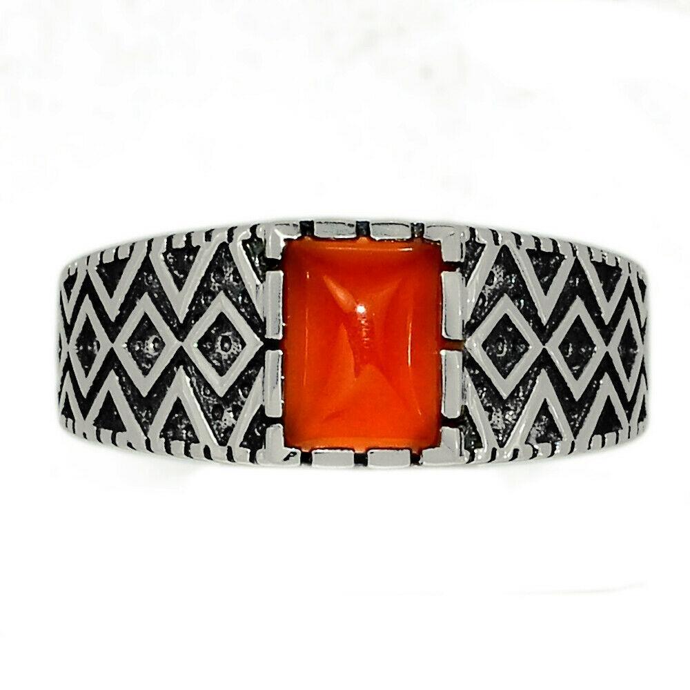 Серебряное кольцо с сердоликом, 2268КЦС