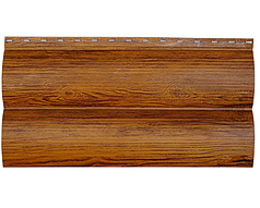 Сайдинг Металлический Блок Хаус Мат, Глянец Под Дерево Дуб 3Д 2х сторонний