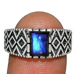 Серебряное кольцо с лабрадором, 2269КЦЛ