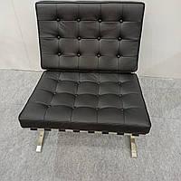 Кресло  Barcelona дизайнерское из натуральной кожи низ нержавеющая сталь БАРСЕЛОНА