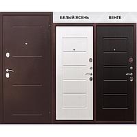 Двери входные уличные Таримус Групп Гарда 80 мм Медный антик Белый ясень / Венге