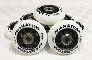 Колеса для роликовых коньков с подшипниками MARATON  (8 шт.)  d-72мм
