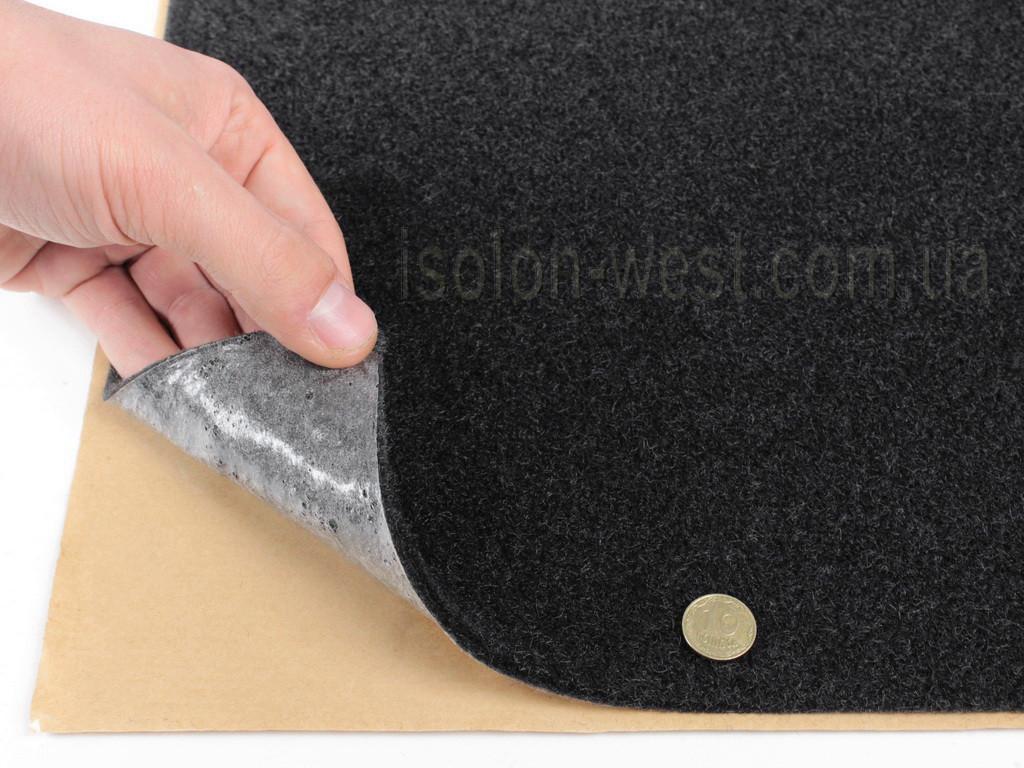 Карпет Преміум темно-серій з коричневим відтінком самоклейка (лист 84х100см) щільність 550г/м2