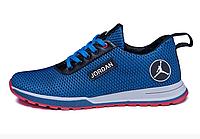 Мужские летние кроссовки сетка Jordan blue синие, фото 1