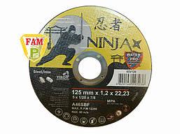 Диск отрезной по металлу / нержав. стали NINJA ТМ VIROK: Ø = 125 х 22.23 мм, t = 1,2 мм 65V126