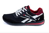 Чоловічі кросівки літні сітка Reebok black чорні