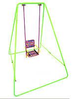 Качели детские разборные на все сезоны «Take&Ride baby swing light green»