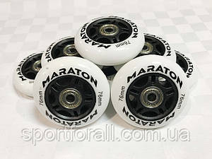 Колеса для роликовых коньков с подшипниками MARATON (8 шт.)  d-76мм