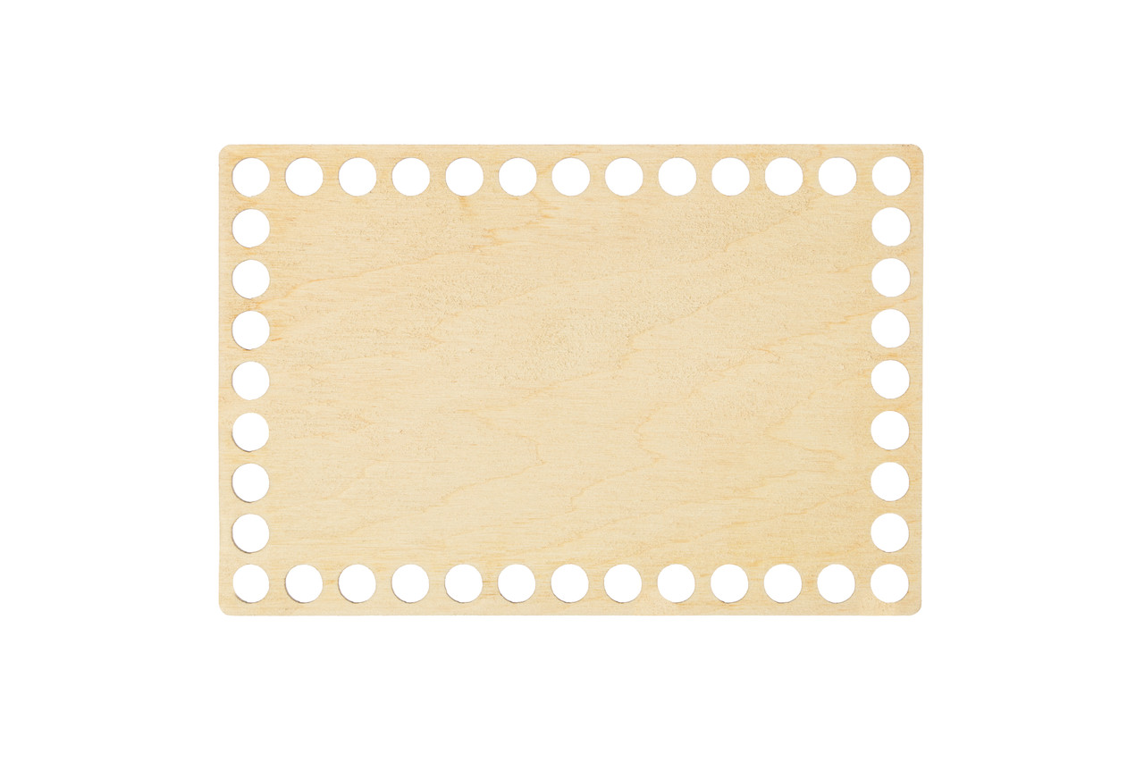 Донышко прямоугольное 10х15 см (Ø отверстие 8 мм)