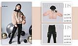Курточка мех, утеплитель термоволокно, подклад микрофлис, бежевый, Моне, р.140,152, фото 4