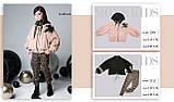 Курточка мех, утеплитель термоволокно, подклад микрофлис, бежевый, Моне, р.140,152, фото 5